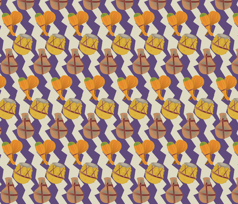 Hallowed Out (Small) fabric by lowa84 on Spoonflower - custom fabric