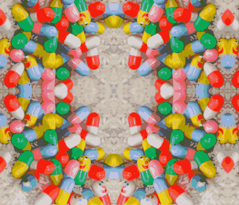 happy pills one fabric by olivemlou on Spoonflower - custom fabric