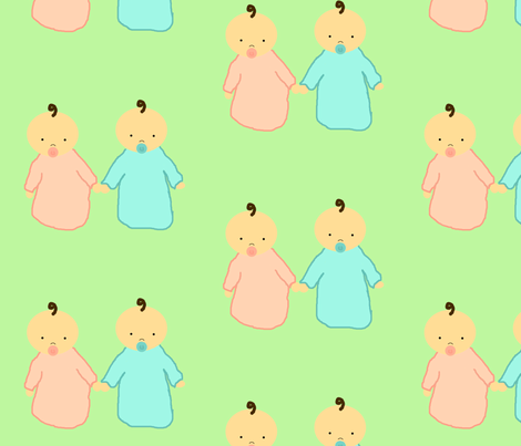 double cute fabric by leathy on Spoonflower - custom fabric