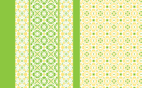Lemon Lime Pie  2010 fabric by inscribed_here on Spoonflower - custom fabric