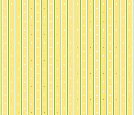 Lemon Blossom Stripe fabric by inscribed_here on Spoonflower - custom fabric