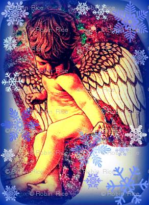 Cherub in Snowflakes