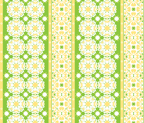 Key Lime Border fabric by inscribed_here on Spoonflower - custom fabric