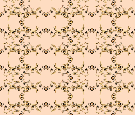 Flowers on Peach fabric by robin_rice on Spoonflower - custom fabric