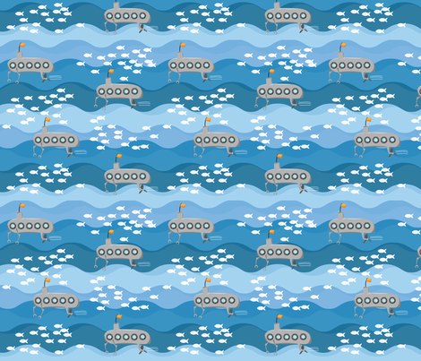Submarines! fabric by wildnotions on Spoonflower - custom fabric