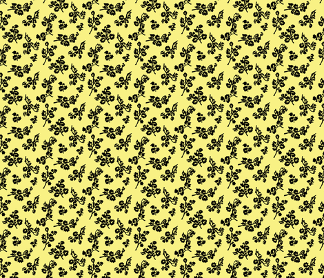 Shadow Foliage-Lemon fabric by jpfabrics on Spoonflower - custom fabric