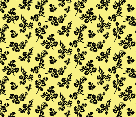 Shadow Foliage-Lemon fabric by ashland_house_designs on Spoonflower - custom fabric