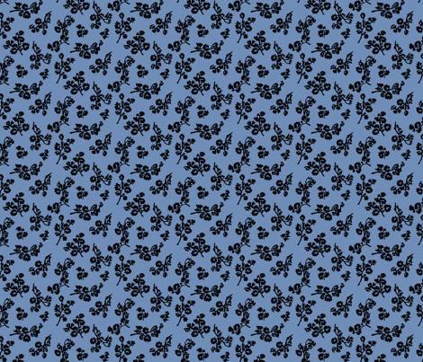 ShadowFoliage-Blue fabric by ashland_house_designs on Spoonflower - custom fabric