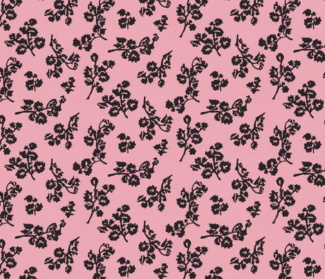 ShadowFoliage-Rose fabric by ashland_house_designs on Spoonflower - custom fabric