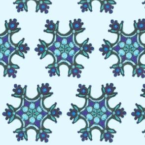 Blue Snoflakes