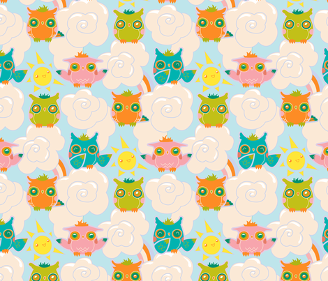 owls fabric by stefohnee on Spoonflower - custom fabric