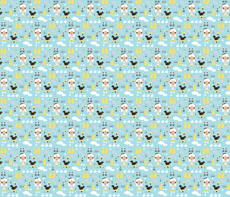 bunny_land fabric by teamkitten on Spoonflower - custom fabric
