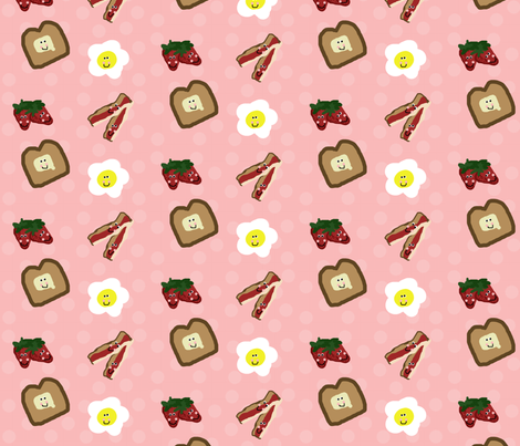 Berry Happy Breakfast fabric by winter on Spoonflower - custom fabric