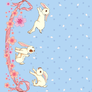 Sakura Bunnies - bunny border only