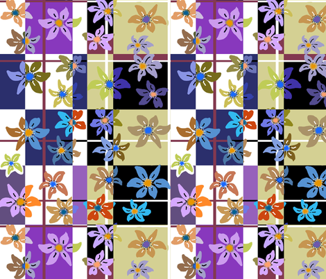 0-flower_105_check-1 floral checkerboard fabric by soobloo on Spoonflower - custom fabric