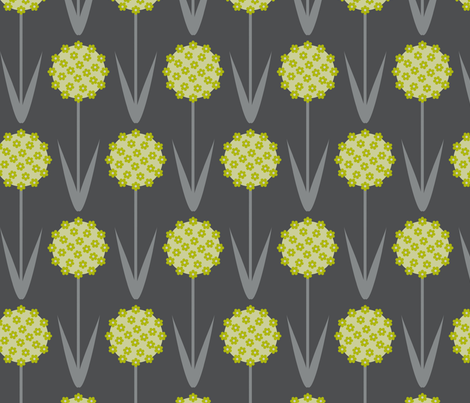 allium fabric by troismiettes on Spoonflower - custom fabric