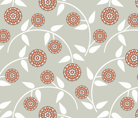 dahlia fabric by troismiettes on Spoonflower - custom fabric