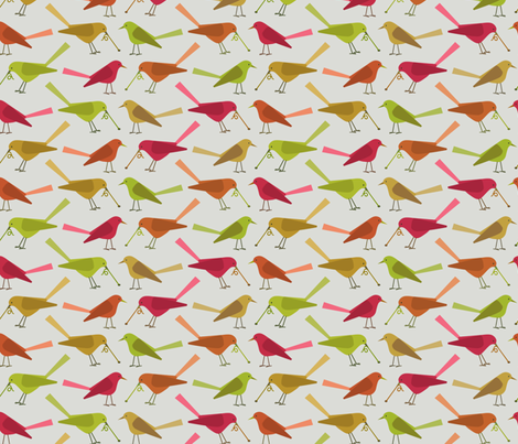early bird fabric by troismiettes on Spoonflower - custom fabric