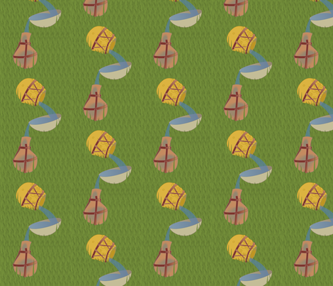 Gourd Canteens fabric by lowa84 on Spoonflower - custom fabric
