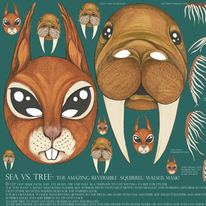 The Amazing Reversible Squirrel and Walrus Two Sided Halloween Mask