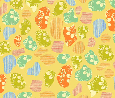 pebble flowers fabric by jshin on Spoonflower - custom fabric