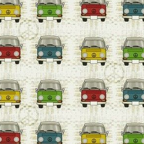 """""""groovy w"""" bus in colors"""