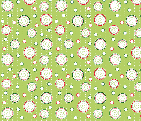 Fun Holiday Dots fabric by pattysloniger on Spoonflower - custom fabric