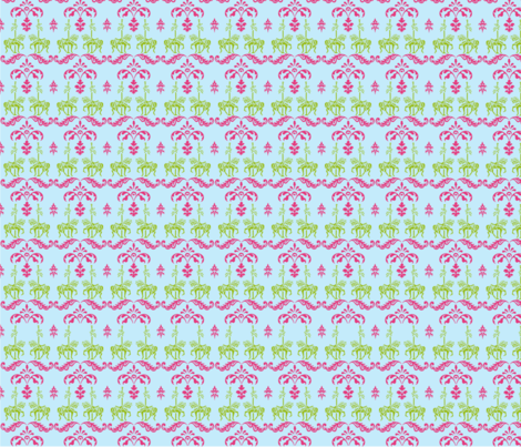the_carousels_42x72 fabric by seza on Spoonflower - custom fabric