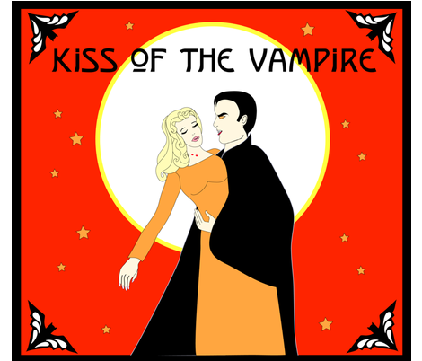 kiss_of__the_vampire fabric by beena_singhal on Spoonflower - custom fabric