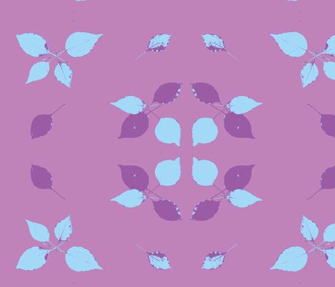 leaves on purple fabric by arteija on Spoonflower - custom fabric