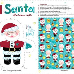 Santa Loves Christmas Doll Pattern