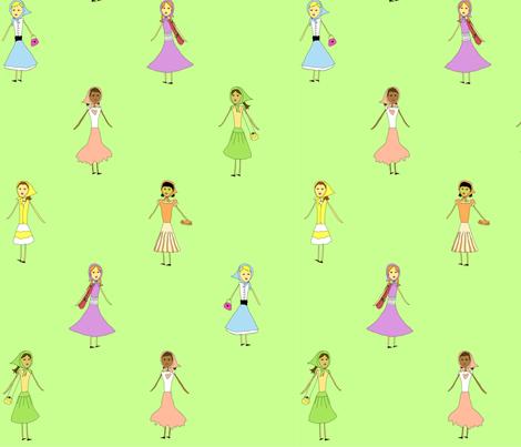 scarf_girls fabric by rose'n'thorn on Spoonflower - custom fabric
