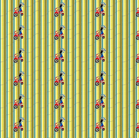 Feed Sack Girl-Stripe-304 fabric by kkitwana on Spoonflower - custom fabric