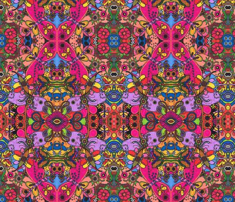 Dragonflies_in_Hiding fabric by charldia on Spoonflower - custom fabric