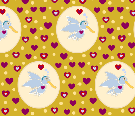 HummingBirdS-ed-ed-ed-ed fabric by bee_smiles on Spoonflower - custom fabric