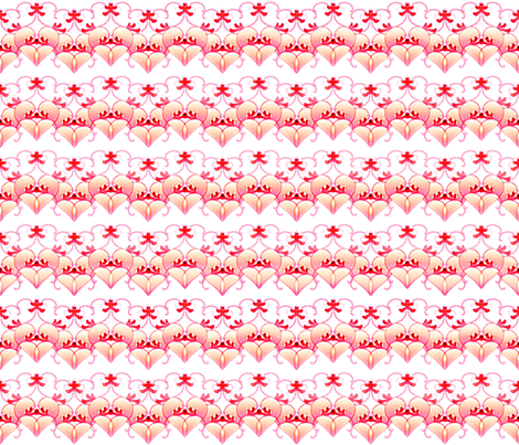 Valentines in a Row fabric by joanmclemore on Spoonflower - custom fabric