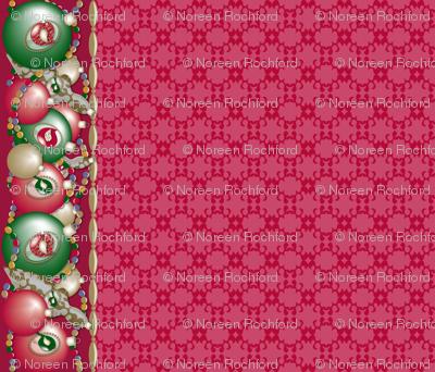 Christmas Ornament Birds Border