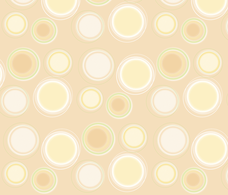 Cell_Spots_zest fabric by karenmayo on Spoonflower - custom fabric