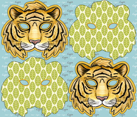 LIGER fabric by mytinystar on Spoonflower - custom fabric