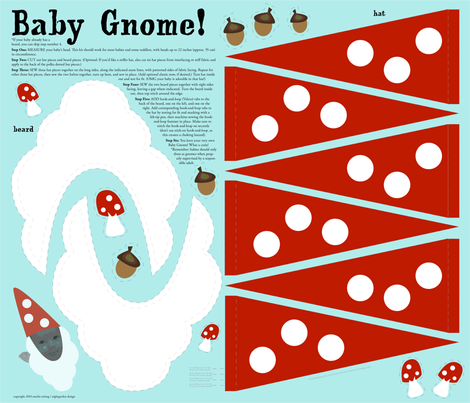 Baby-Gnome fabric by nightgarden on Spoonflower - custom fabric