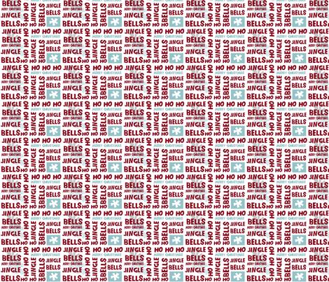 Christmas_words_small fabric by phatsheepfabrics on Spoonflower - custom fabric