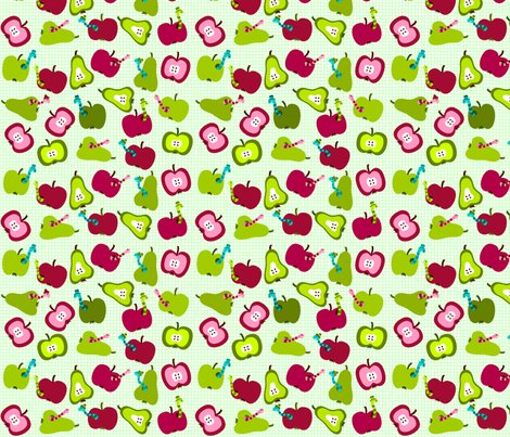 Rstefffabricsspoonflowerapplenwormsgreen_shop_preview