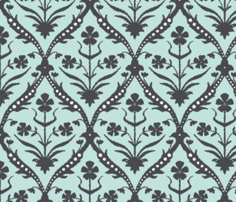 Neel trellis ikat fabric by scrummy on Spoonflower - custom fabric