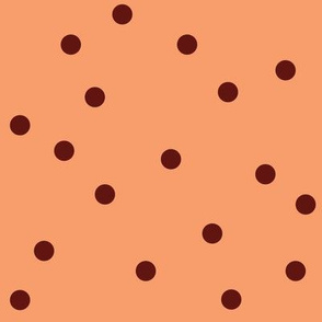 polka-dots peach&brown