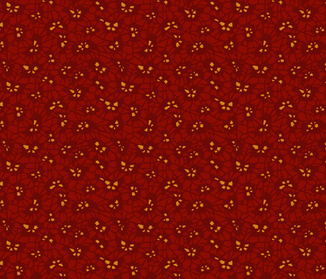 katagami - mulberry miru-iro fabric by monmeehan on Spoonflower - custom fabric