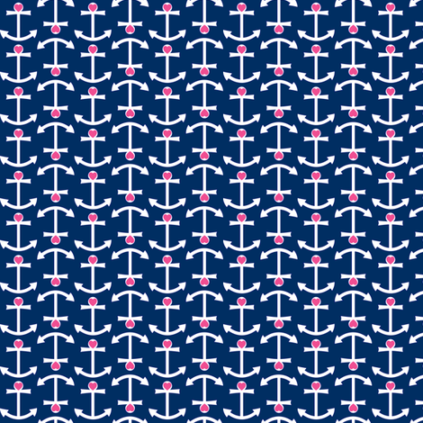 Anchor Love fabric by srbracelin on Spoonflower - custom fabric