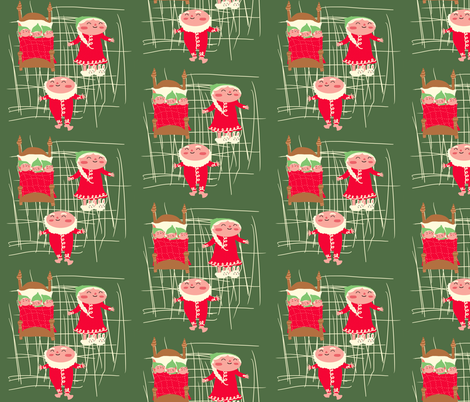 the claus family fabric by heidikenney on Spoonflower - custom fabric