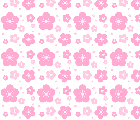 Cherry Blossoms fabric by katbrunnegraff on Spoonflower - custom fabric