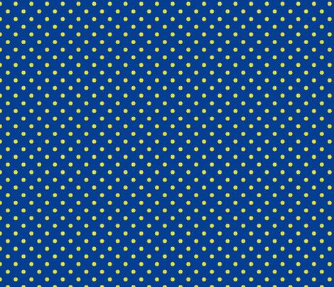 Tennis Ball Dot Blue fabric by freshlypieced on Spoonflower - custom fabric