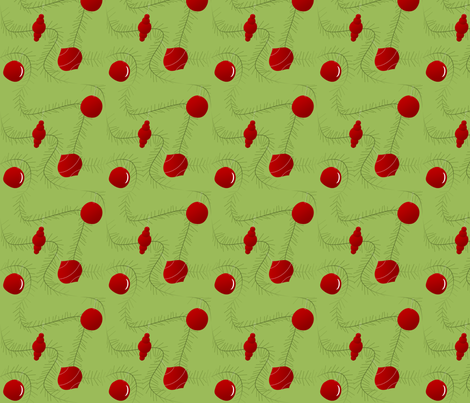 Ornaments & Garland fabric by lowa84 on Spoonflower - custom fabric